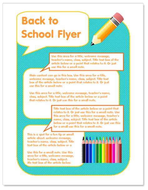 Worddraw Com Back To School Flyer Template For Microsoft Word Free School Flyer Templates
