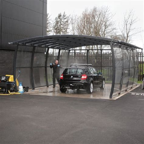 Car Awning Shelter by Car Wash Canopy Shelters Canopies Broxap