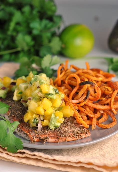 Salmon Menuan Ounce Of Prevention A Pound Of Cure by Jamaican Salmon With Fresh Mango Salsa Whole30