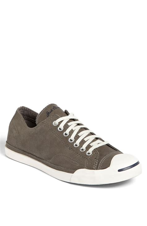 converse grey sneakers converse purcell low sneaker in gray for grey