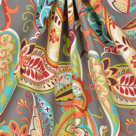 turquoise paisley curtains curtain panels paisley whimsy grey turquoise orange by