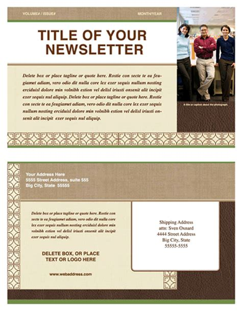 microsoft word email newsletter templates free