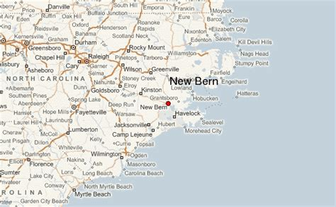 new bern carolina map new bern location guide
