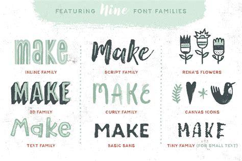 Font Acrylic canvas acrylic megafamily display fonts creative market