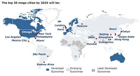 megacities world map al fin megacities for better and for worse