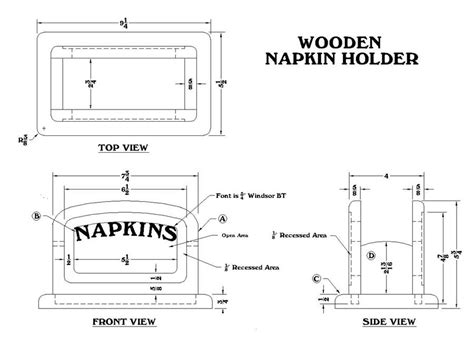 napkin holder template how to make a wood napkin holder woodworking plans from