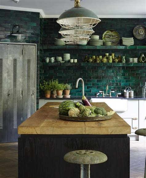 green tile kitchen backsplash 30 green kitchen decor ideas that inspire digsdigs