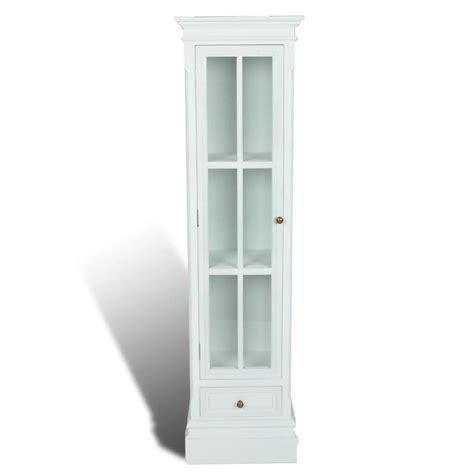 Vidaxl Co Uk White Shabby Wooden Chic Bookcase Cabinet 3 White Bookcase Cabinet