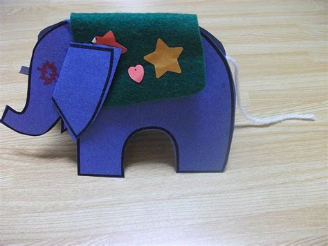 paper elephant stand up craft preschool crafts for