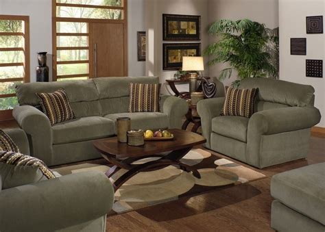 3 Piece Living Room Furniture | jackson furniture mesa 3 piece living room set in quot sage