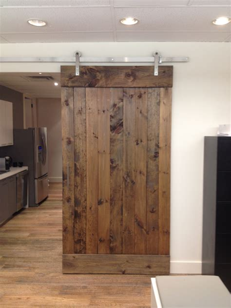 Home Design Old Wood Sliding Barn Door With Dark Wood Barn Door Menu