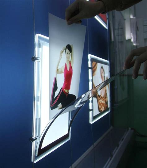 details of led light pockets lighted poster box illuminated window displays two sided 106228291