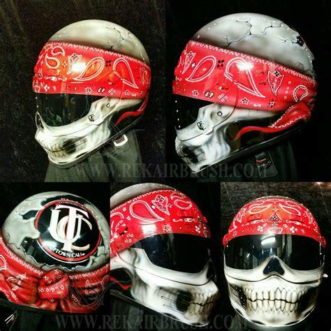 airbrushed motocross helmets skull with bandana motorcycle helmet simpson helmet by www