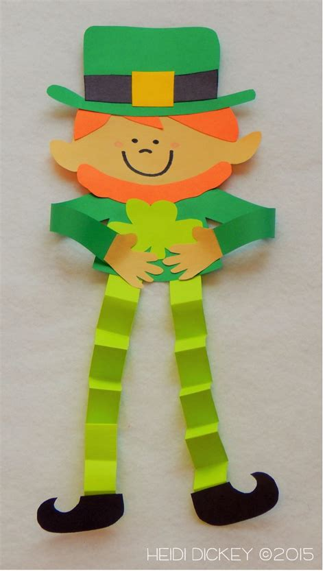 st patricks crafts for leprechaun craft pack saints craft and march