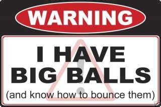 Warning Big Nuts Required Sticker