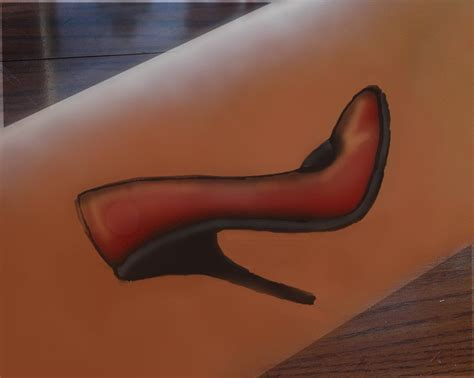 high heel tattoo the deevine miss m them high heeled shoes