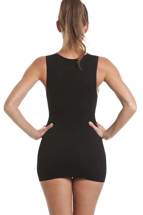 support vest black shapewear support vest top