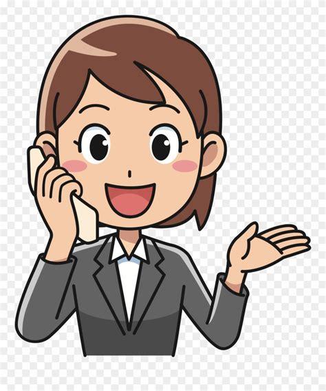 clipart gambar  telepon kartun png