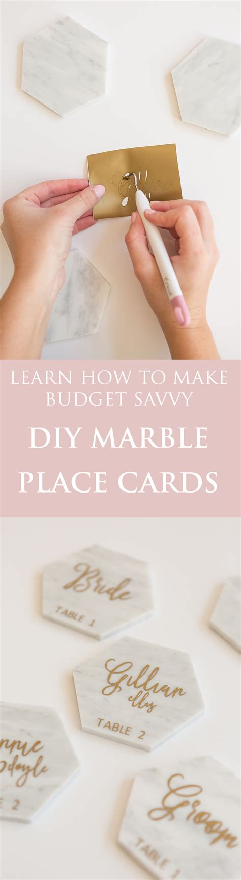 how to make my own wedding place cards diy calligraphy marble place cards with cricut