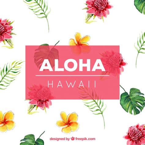 imagenes flores hawaianas fondo de flores de acuarela hawaianas descargar vectores