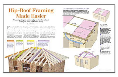 hip roof construction pinteres hip roof framing made easier fine homebuilding