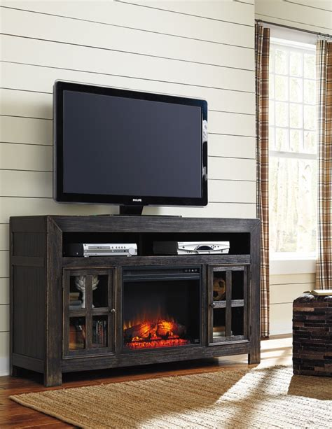 tv stand w fireplace gavelston lg tv stand w fireplace option w732 38 tv