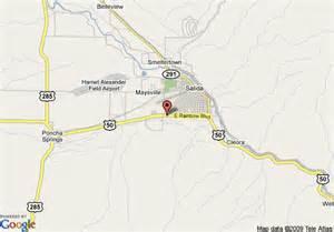 salida colorado map map of 8 motel salida salida