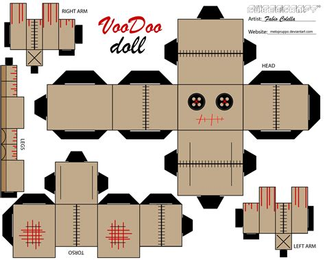 How To Make Papercraft Dolls - voodoo doll by melopruppo on deviantart