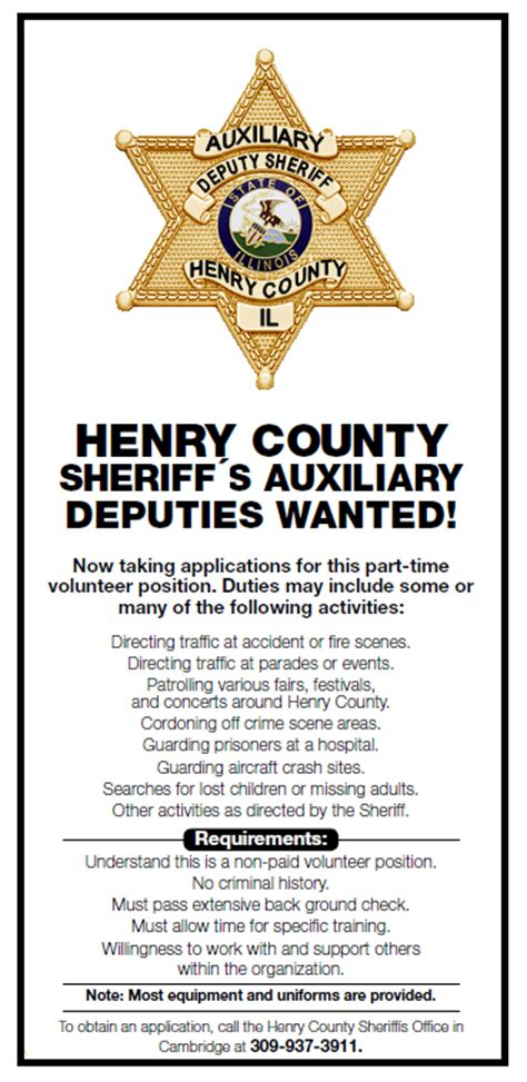 Henry County Il Search Sheriff S Auxiliary
