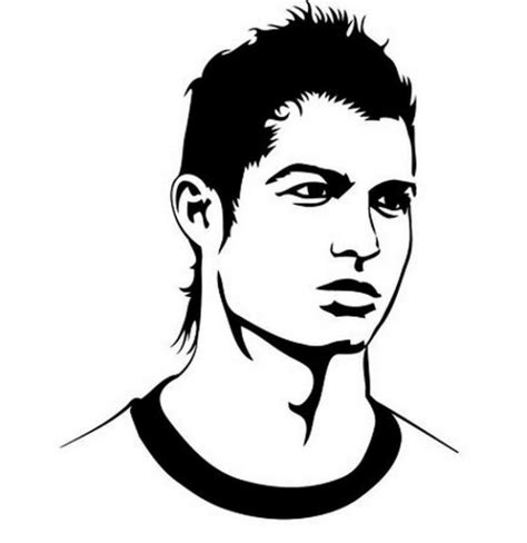 dessin de foot de ronaldo coloriage cristiano ronaldo footballeur du real madrid 224
