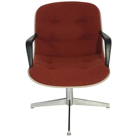 Upholstered Armchairs by 1980s Steelcase Upholstered Swivel Armchair For Sale At