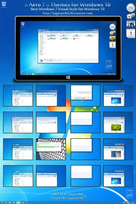 themes for windows 7 deviantart aero 7 themes for windows 10 by sagorpirbd