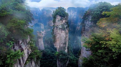 nature landscape mist national park mountain cliff