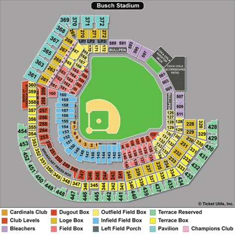 busch stadium seating prices stl cardinals seating chart st louis cardinals tickets