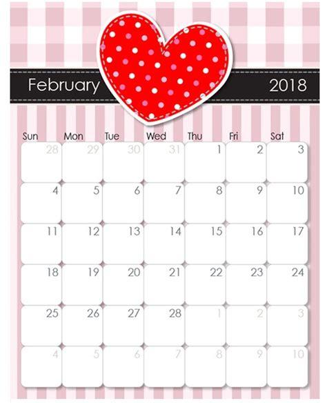 Calendar 2018 Valentines Day February 2018 Desk Calendar Calendar 2018