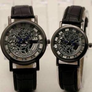 Jam Tangan Q Q Transparan Blue harga jam tangan transparan leather black