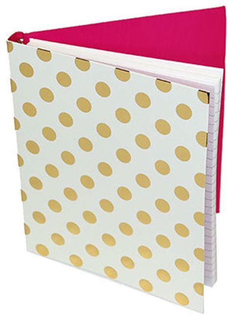 Kate Spade Gold Dots Spiral Notebook Contemporary Desk Kate Spade Desk Accessories