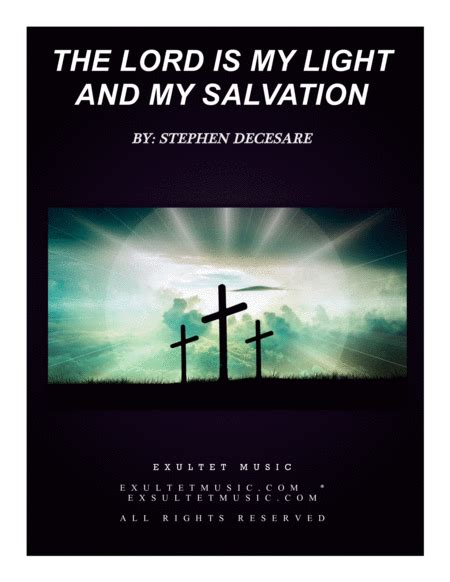 the lord is our salvation large print a lenten study based on the revised common lectionary scriptures for the church seasons books the lord is my light and my salvation sheet