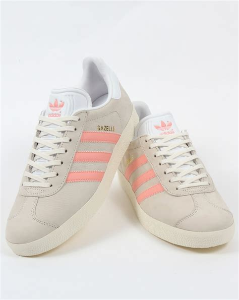 adidas gazelle trainers chalk white light pink originals shoes womens sneaker