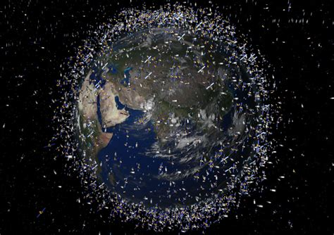 space junk map are we reaching satellite saturation point technology