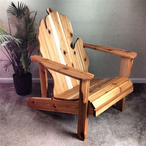 Wood Handmade Furniture - michigan adirondack chair handmade wood furniture rustic patio