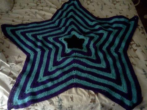 star shaped afghan  star knit blanket crochet  cut