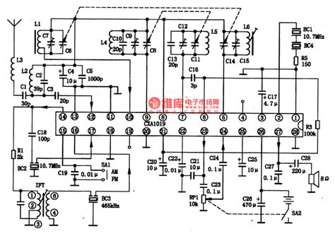 single integrated circuit the cxa1o19 am single chip radio integrated circuit lifier circuit circuit diagram