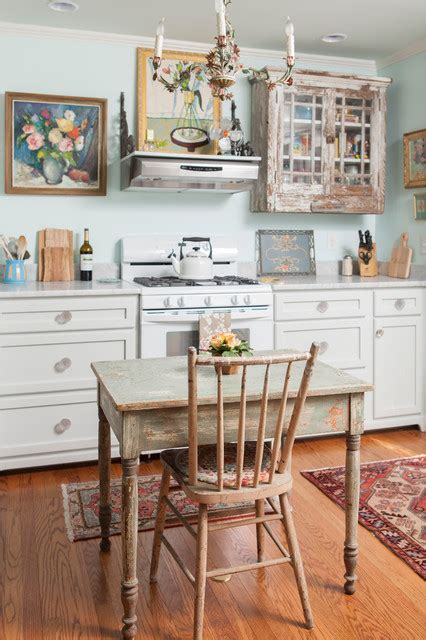 historic home shabby chic style kitchen wilmington