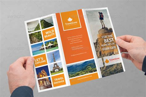 best brochure template travel brochure design world tri fold best travel
