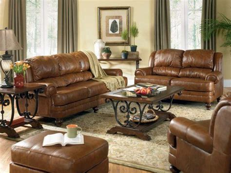 Decorating Ideas For Living Rooms With Brown Leather Furniture Brown Leather Sofa Decorating Ideas Iinterior Design For A Living Room With A Fireplace