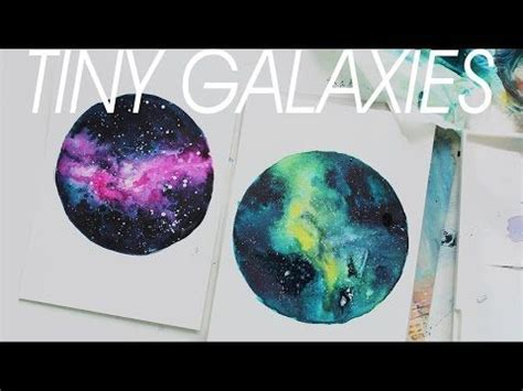 watercolor nebula tutorial tiny nebula watercolor painting youtube fascinating