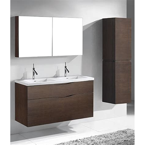 Bathroom Vanities Free Shipping Madeli Bolano 48 Quot Bathroom Vanity For Integrated Basin Walnut Free Shipping Modern