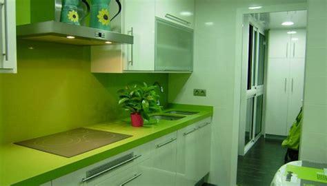 tendencias espacios el color verde en la cocina