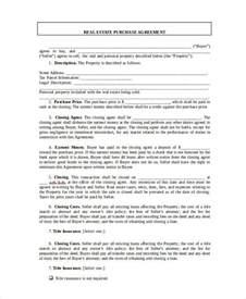Real Estate Agreement Template by Real Estate Form 9 Free Sle Exle Format Free